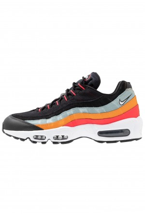 Nike AIR MAX 95 ESSENTIAL - Sneakers laag black/white/ocean cube/kumquat/red orbitNIKE202269