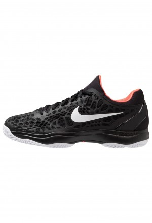 Nike AIR ZOOM CAGE - Tennisschoenen voor kleibanen black/white/bright crimsonNIKE203113