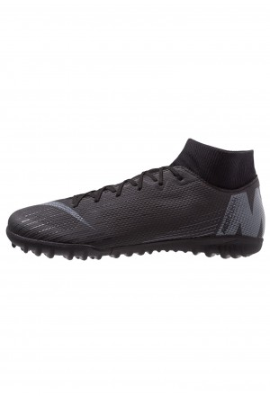 Nike MERCURIAL SUPERFLYX 6 ACADEMY TF - Voetbalschoenen voor kunstgras black/anthracite/light crimsonNIKE203178