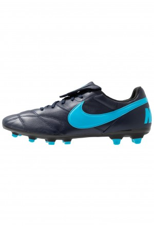 Nike THE PREMIER II FG - Voetbalschoenen met kunststof noppen obsidian/light current blue/blackNIKE202822