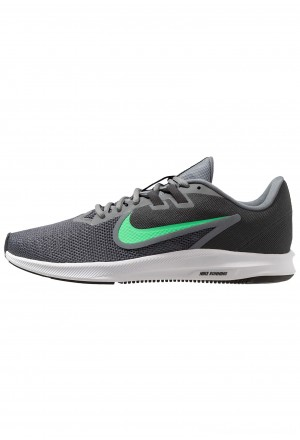 Nike DOWNSHIFTER 9 - Hardloopschoenen neutraal cool grey/electro green/anthracite/blackNIKE202751