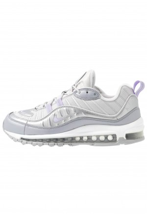 Nike AIR MAX 98 - Sneakers laag vast grey/purple agate/metallic platinum/wolf grey/whiteNIKE101485