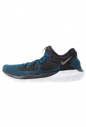 Nike FLEX 2019 RN - Loopschoen neutraal off noir/metallic pewter/blue force/light current blue/whiteNIKE203139