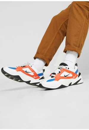 Nike M2K TEKNO - Sneakers laag summit white/black/team orange/mountain blueNIKE202381