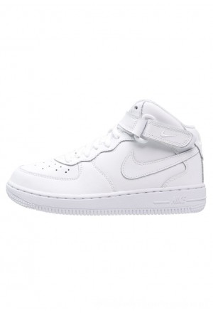 Nike AIR FORCE 1 MID - Sneakers hoog - white whiteNIKE303302