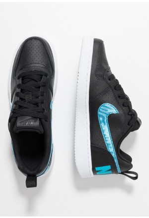 Nike COURT BOROUGH - Sneakers laag black/light current blue/whiteNIKE303348