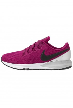 Nike AIR ZOOM STRUCTURE  - Stabiliteit hardloopschoenen true berry/black/chrome/whiteNIKE101661