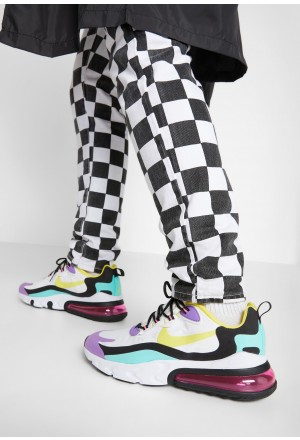 Nike AIR MAX 270 REACT - Sneakers laag black/bicycle yellow/teal tint/violet star/pink blast/whiteNIKE202298