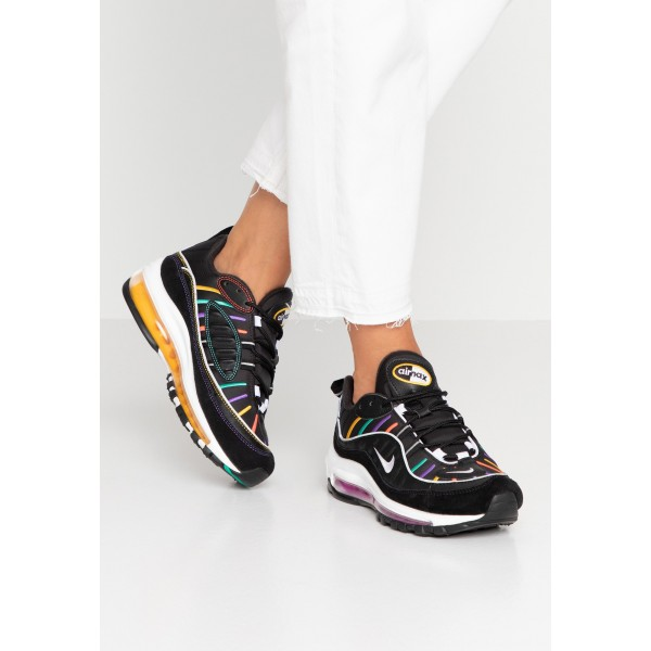 Nike AIR MAX 98 PRM - Sneakers laag black/flash crimson/kinetic green/psychic purple/universe gold/whiteNIKE101509