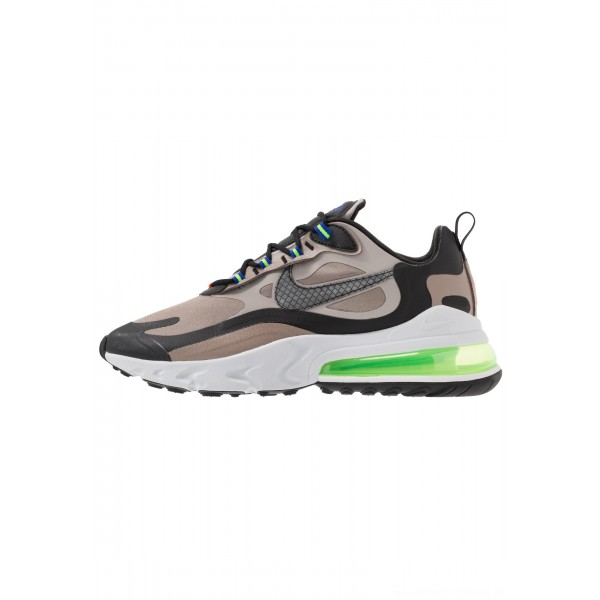Nike AIR MAX 270 REACT WTR - Sneakers laag sepia stone/black/moon particle/vast grey/electric green/total orangeNIKE202333