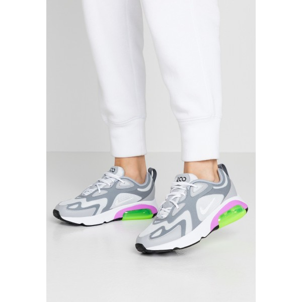 Nike AIR MAX 200 - Sneakers laag pure platinum/white/cool grey/wolf grey/atomic purple/electric greenNIKE101277