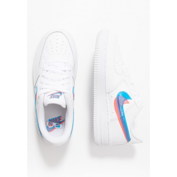 Nike FORCE 1 LV8  - Sneakers laag white/blue hero/bright crimsonNIKE303402