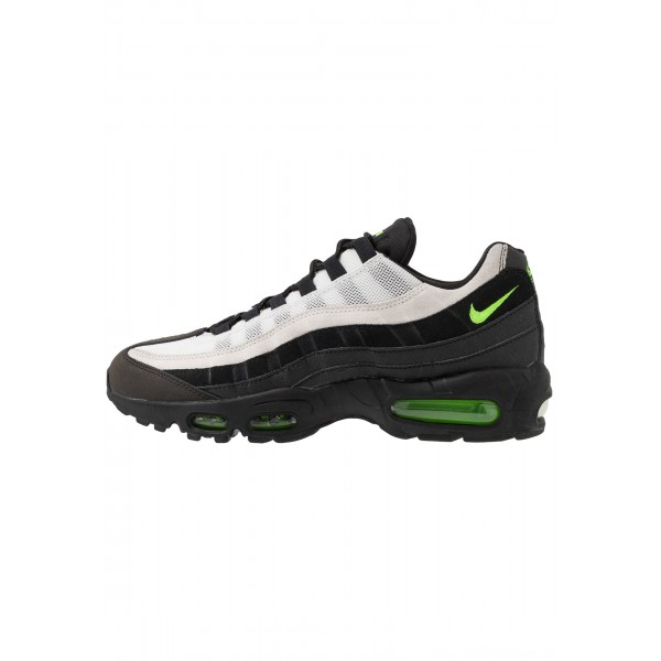 Nike AIR MAX 95 ESSENTIAL - Sneakers laag black/electric green/platinum tint/crimsonNIKE202267