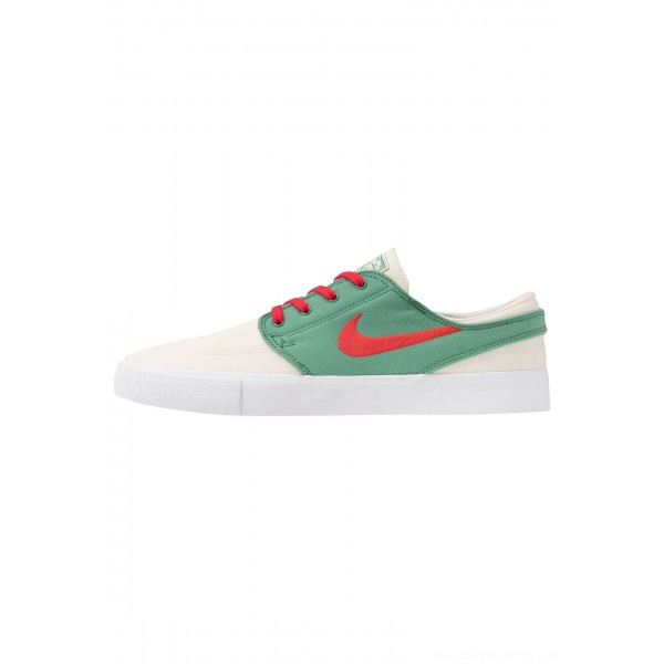 Nike SB ZOOM JANOSKI - Sneakers laag pale ivory/atom red/ever green/whiteNIKE202432