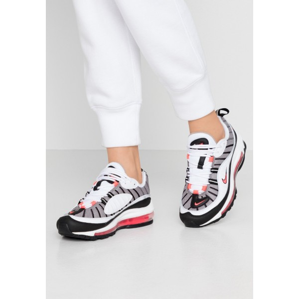 Nike AIR MAX 98 - Sneakers laag white/solar red/silver/blackNIKE101253