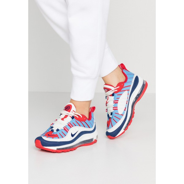 Nike AIR MAX 98 - Sneakers laag summit white/blue void/university red/reflect silver/university blueNIKE101256
