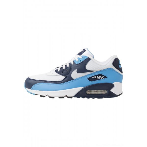 Nike AIR MAX 90 ESSENTIAL - Sneakers laag white/pure platinum/university blue/midnight navyNIKE202615