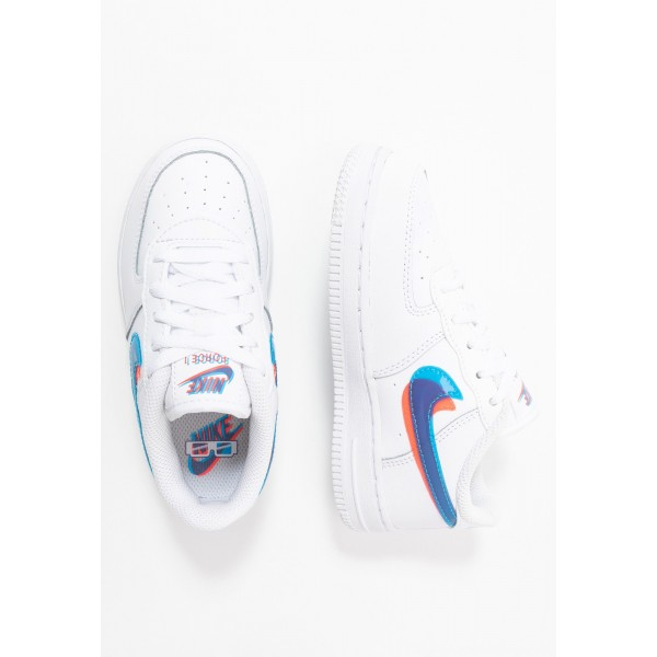 Nike FORCE 1 LV8 - Sneakers laag white/blue hero/bright crimsonNIKE303437