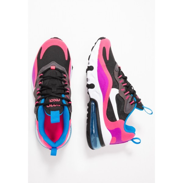 Nike AIR MAX 270 REACT - Sneakers laag black/white/hyper pink/vivid purpleNIKE101520