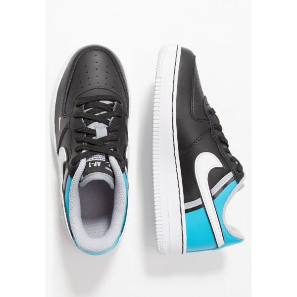 Nike FORCE 1 LV8  - Sneakers laag black/white/light current blue/wolf greyNIKE303436