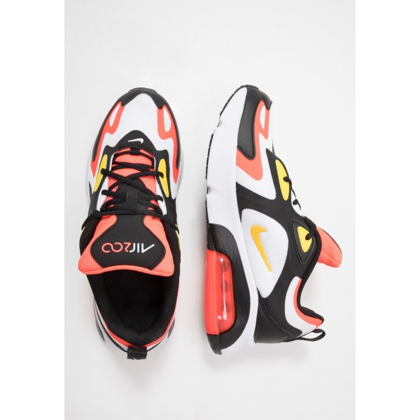 Nike AIR MAX 200 - Sneakers laag black/chrome yellow/white/bright crimsonNIKE303164