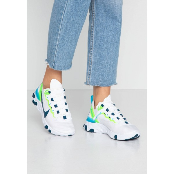 Nike REACT 55 - Sneakers laag white/blue force/summit white/electric green/blue furyNIKE101345