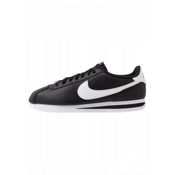 Nike CORTEZ BASIC - Sneakers laag black/white/metallic silverNIKE202348