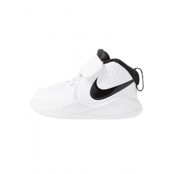 Nike TEAM HUSTLE - Basketbalschoenen white/black/voltNIKE303538