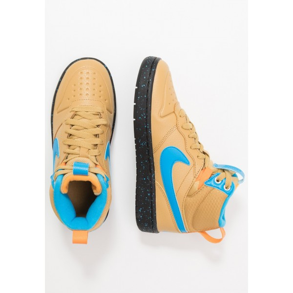 Nike COURT BOROUGH MID  - Sneakers hoog club gold/blue hero/kumquat/blackNIKE303265