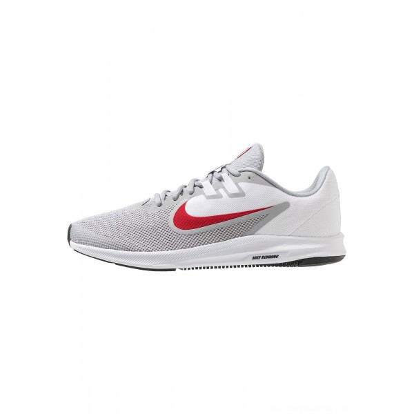 Nike DOWNSHIFTER 9 - Hardloopschoenen neutraal wolf grey/university red/white/blackNIKE202755