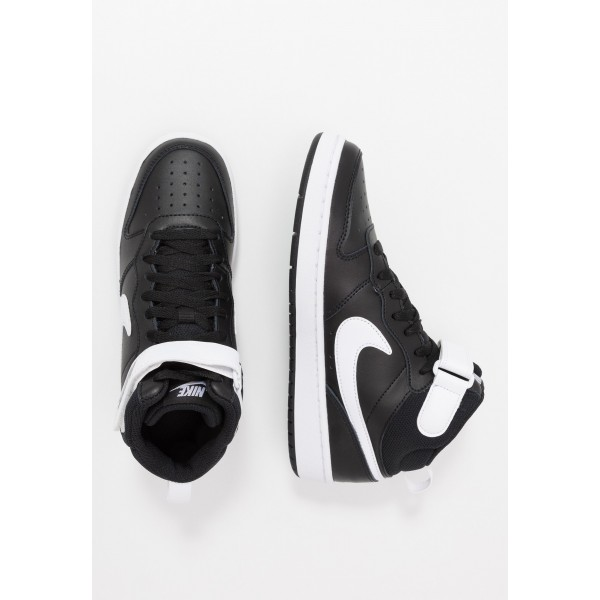 Nike COURT BOROUGH MID - Sneakers hoog black/whiteNIKE303242