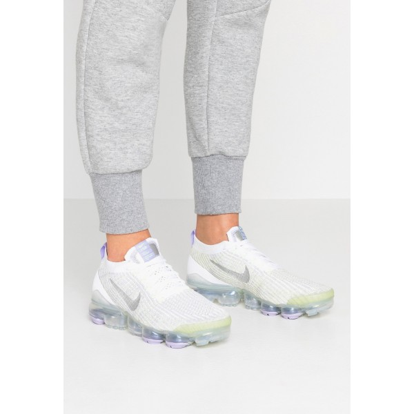 Nike AIR VAPORMAX FLYKNIT - Sneakers laag true white/barely volt/purple agate/metallic silverNIKE101442