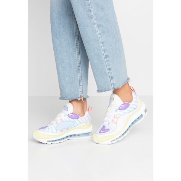 Nike AIR MAX 98 - Sneakers laag - luminous green/white/atomic violet/bleached coral/psychic blue/light aqua luminous green/white/atomic violet/bleached coral/psychic blue/light aquaNIKE101255