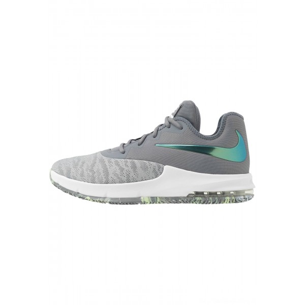 Nike AIR MAX INFURIATE III LOW - Basketbalschoenen cool grey/dark grey/platinum tint/lab greenNIKE202837