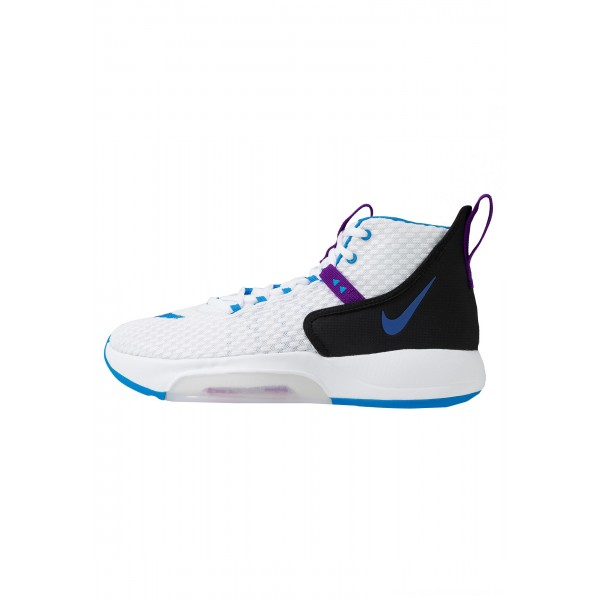 Nike ZOOM RIZE - Basketbalschoenen white/photo blue/black/voltage purpleNIKE202865