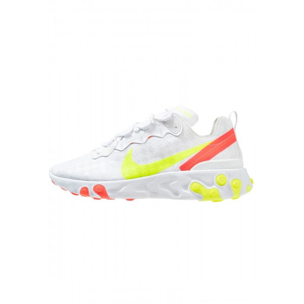 Nike REACT ELEMENT 55 - Sneakers laag white/volt/flash crimson/hyper crimsonNIKE202678