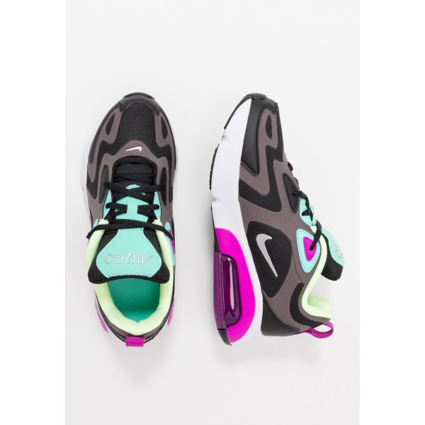 Nike AIR MAX 200 - Sneakers laag black/metallic silver/thunder grey/aurora green/hyper violet/barely voltNIKE303161