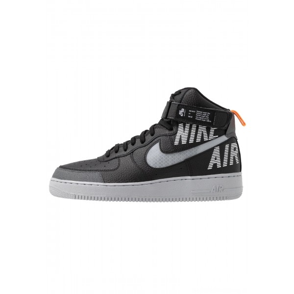 Nike AIR FORCE 1 - Sneakers hoog black/wolf grey/dark grey/total orange/whiteNIKE202643