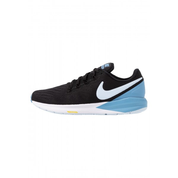 Nike AIR ZOOM STRUCTURE  - Stabiliteit hardloopschoenen black/half blue/light blue/chrome yellowNIKE101662