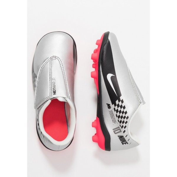 Nike VAPOR 13 CLUB NEYMAR MG - Voetbalschoenen met kunststof noppen chrome/black/red orbit/platinum tint/whiteNIKE303740