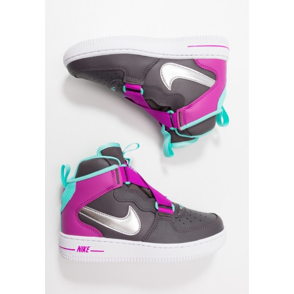 Nike FORCE 1 HIGHNESS - Sneakers hoog thunder grey/metallic silver/hyper violet/aurora greenNIKE303353