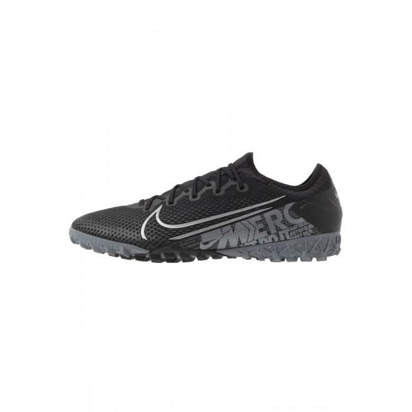 Nike MERCURIAL VAPOR 13 PRO TF - Voetbalschoenen voor kunstgras black/metallic cool grey/cool grey/blue furyNIKE203098