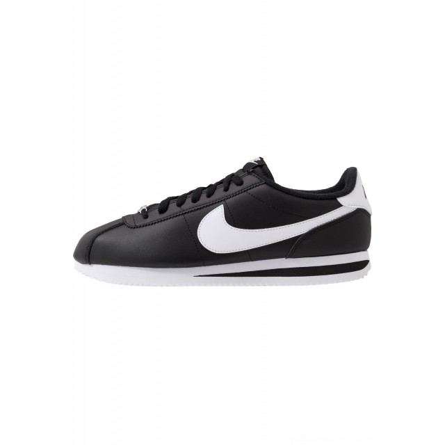 Nike CORTEZ BASIC - Sneakers laag black/white/metallic silver